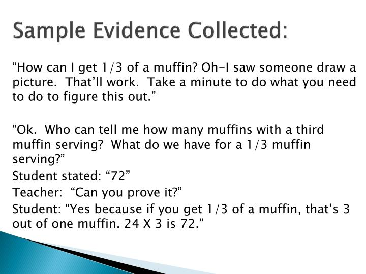 Sample Evidence Collected: