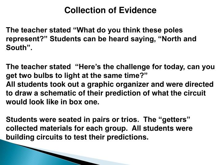 Collection of Evidence