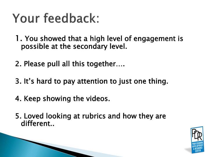 Your feedback:
