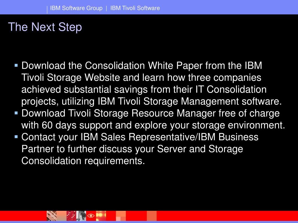 PPT - Storage Management Software for Server and Storage