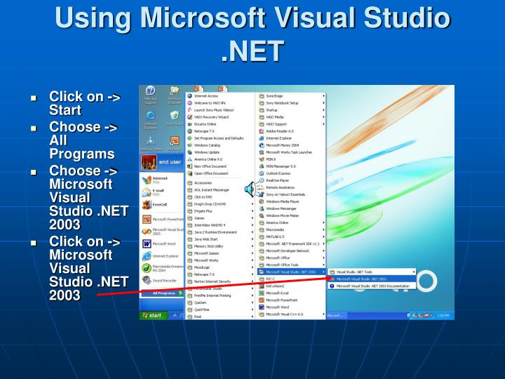 Chapter 2 – introduction to the visual studio. Net ide ppt video.