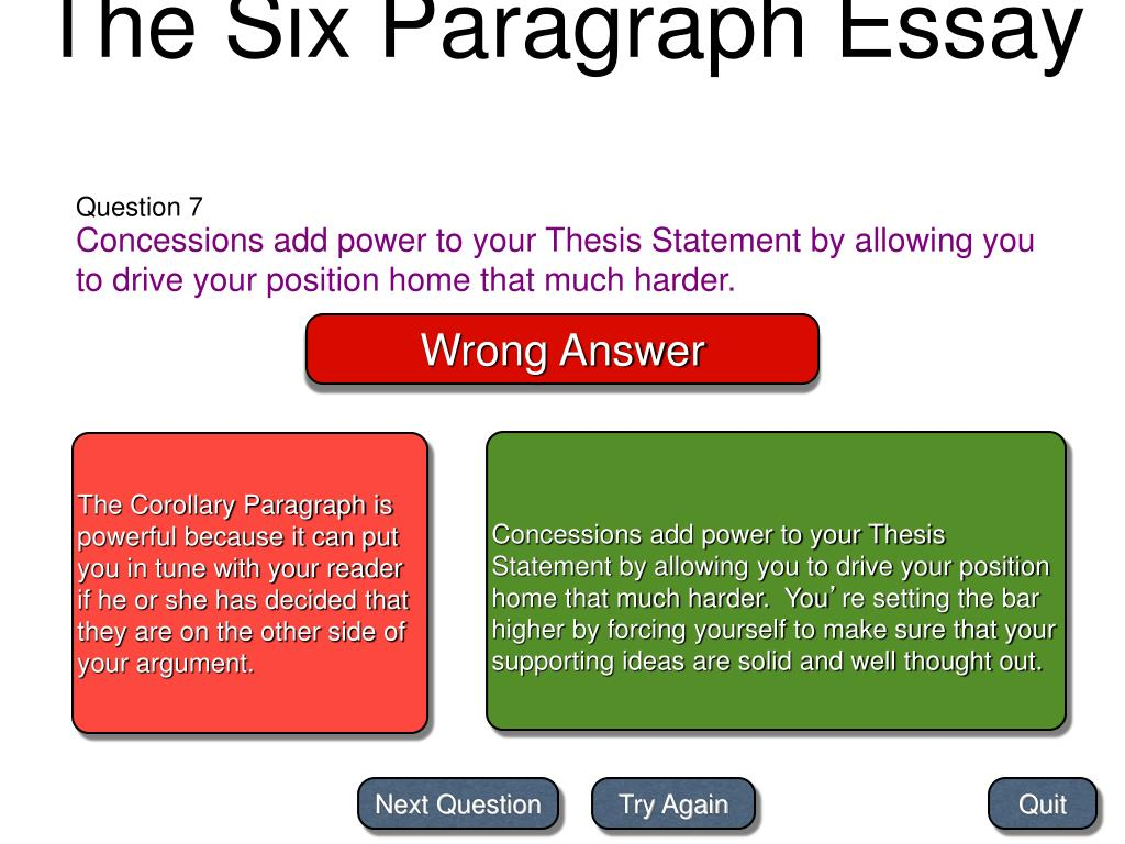 PPT - The Six Paragraph Essay PowerPoint Presentation, Free Download -  ID:6083470