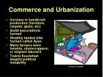 commerce and urbanization1