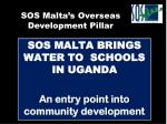 sos malta brings water to schools in uganda an entry point into community development