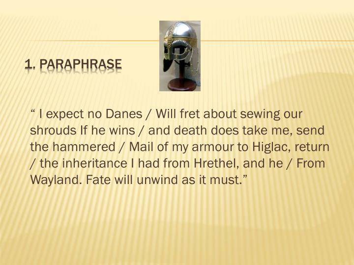 1 paraphrase