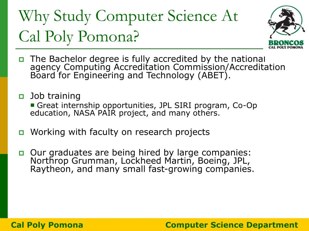 PPT - Why Cal Poly Pomona? PowerPoint Presentation - ID:6083658