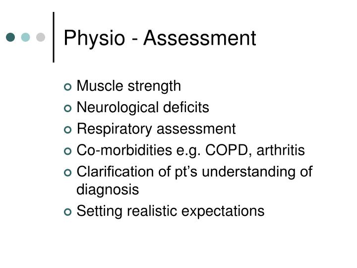 Physio - Assessment