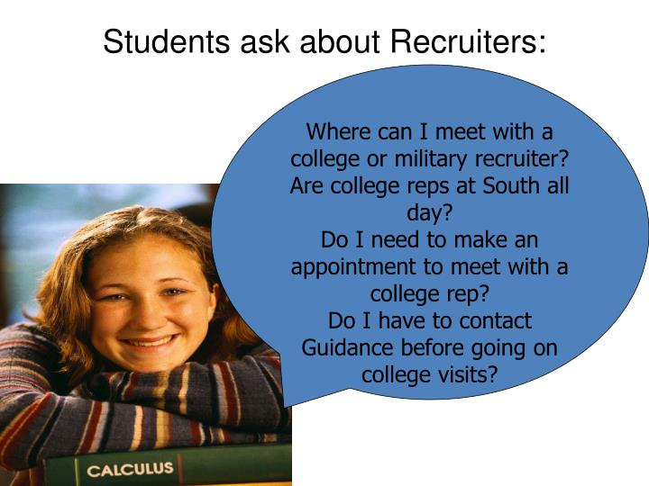 Students ask about Recruiters: