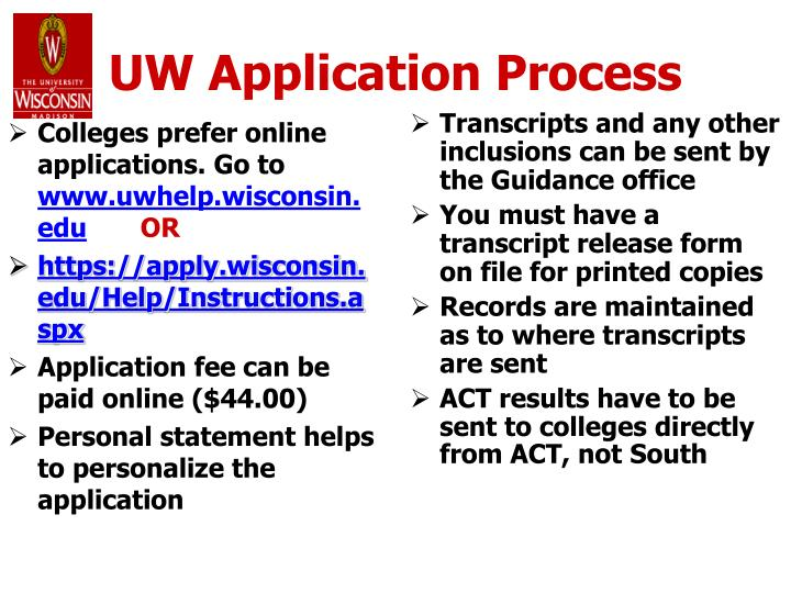 Colleges prefer online applications. Go to