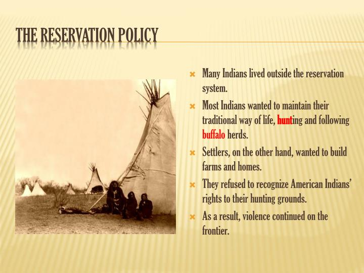 The Reservation Policy