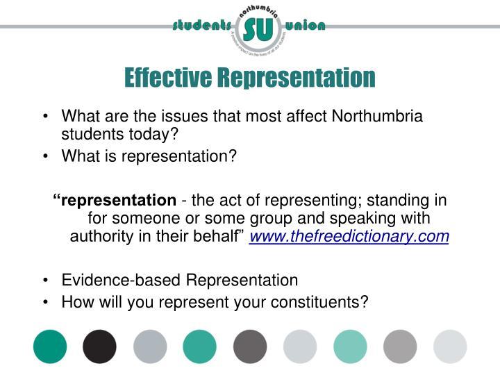 Effective Representation
