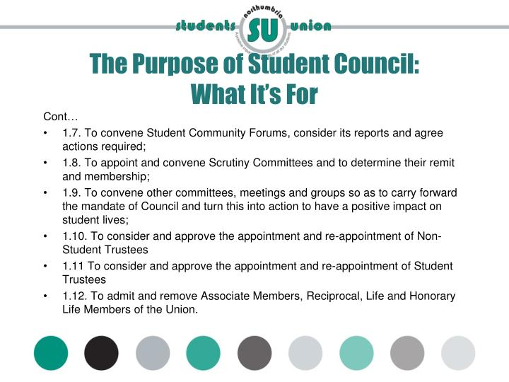 The Purpose of Student Council: