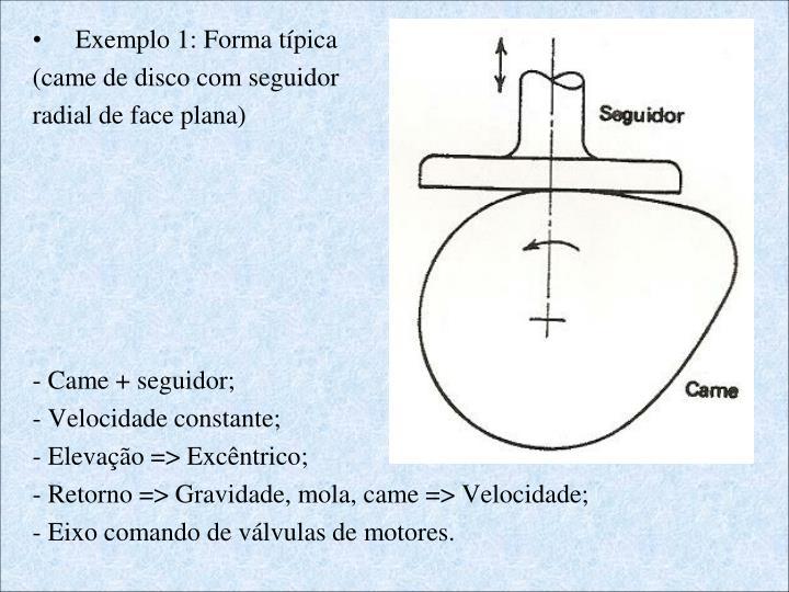 Exemplo 1: Forma típica