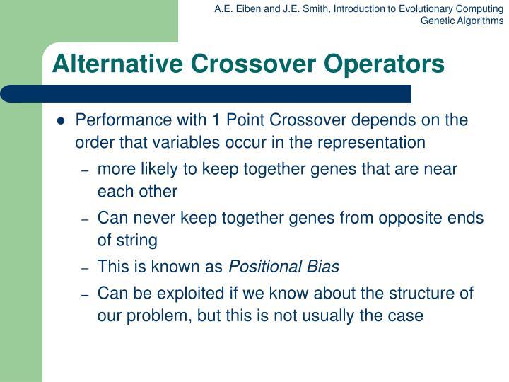 Alternative Crossover Operators