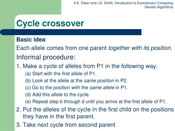 Cycle crossover
