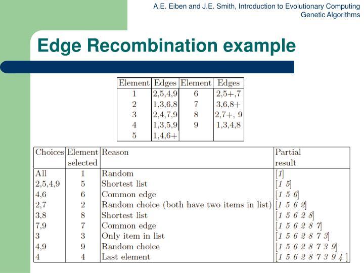 Edge Recombination example