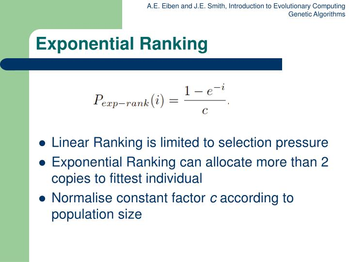 Exponential Ranking