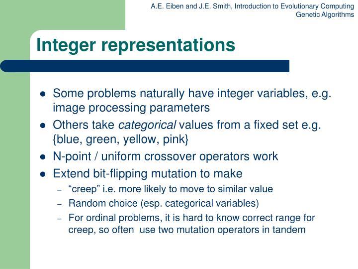 Integer representations