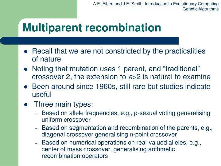 Multiparent recombination