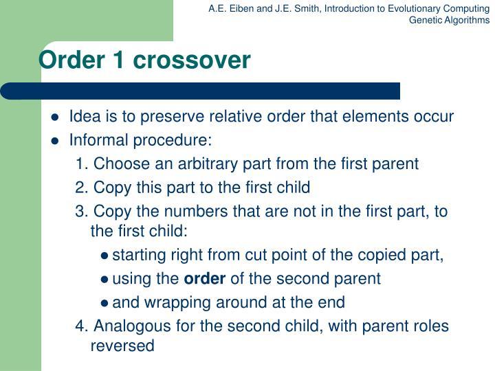 Order 1 crossover