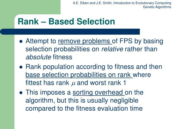Rank – Based Selection