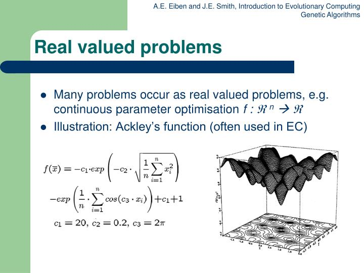 Real valued problems