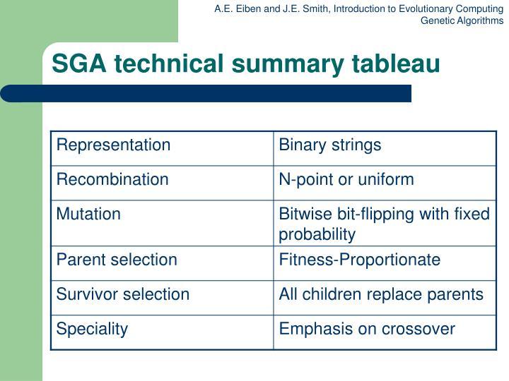 SGA technical summary tableau