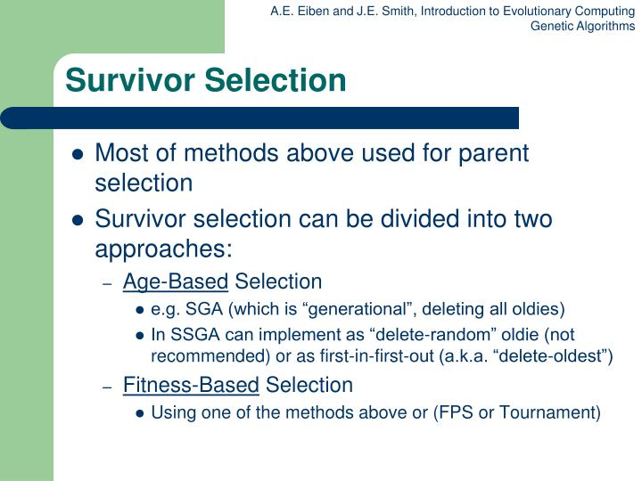Survivor Selection
