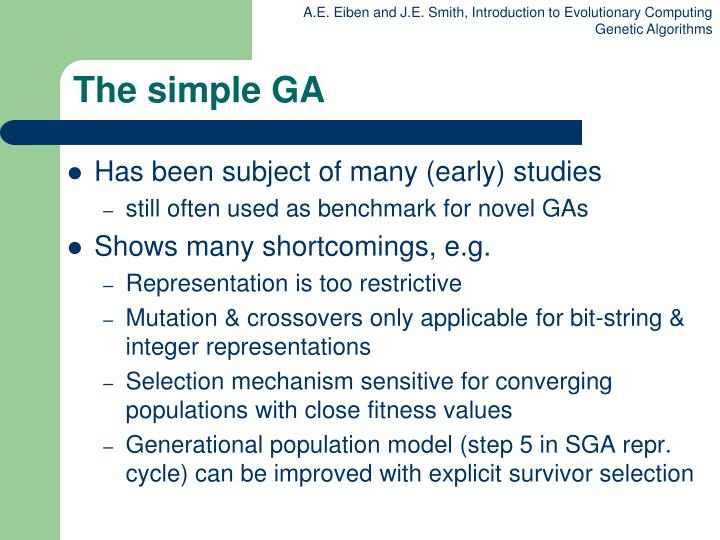 The simple GA