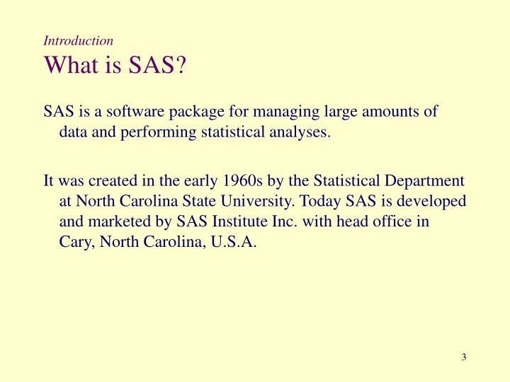 Introduction what is sas