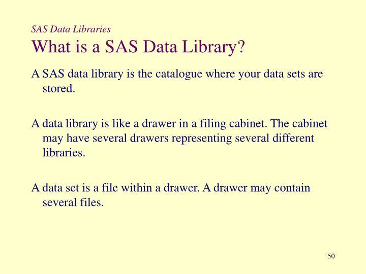 SAS Data Libraries