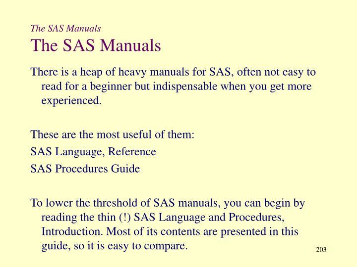 The SAS Manuals