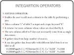 integartion operators