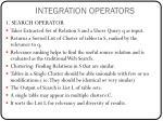 integration operators