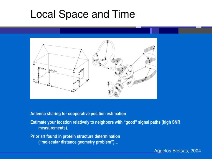 Local Space and Time