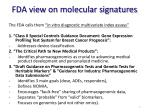 fda view on molecular signatures