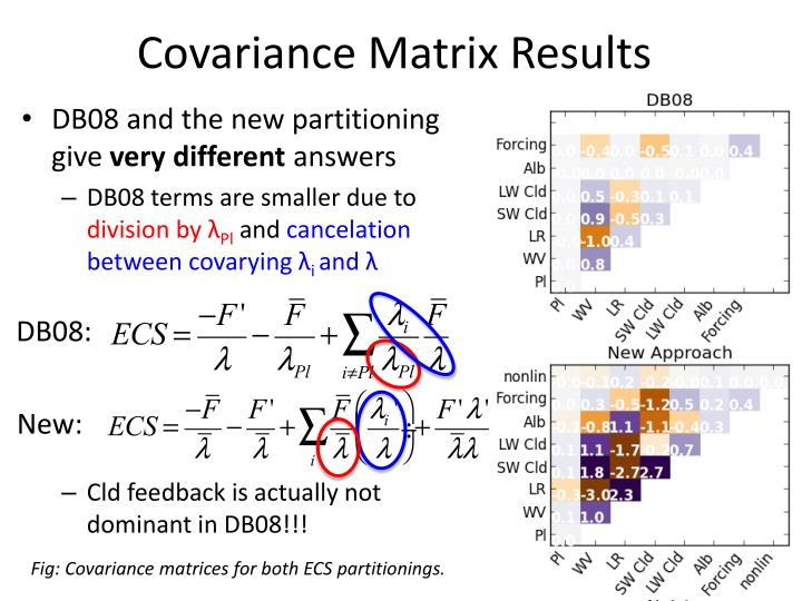 Covariance Matrix Results