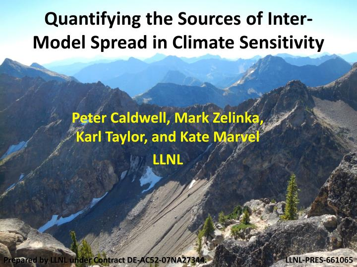 Quantifying the sources of inter model spread in climate sensitivity
