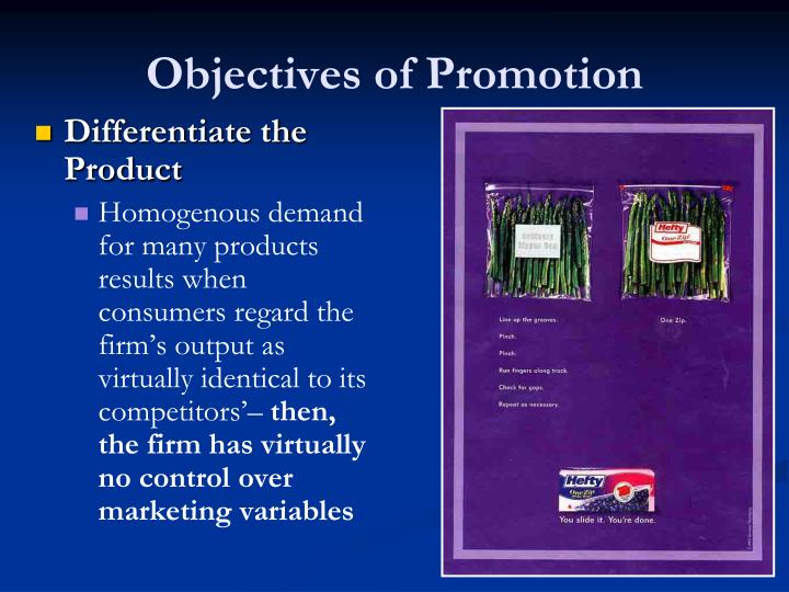 Objectives of Promotion