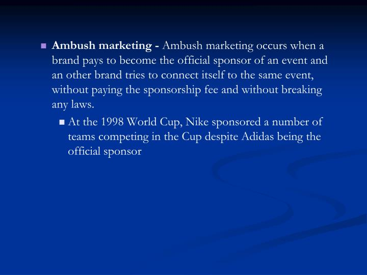 Ambush marketing -