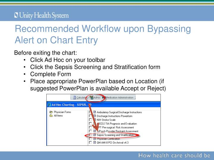 Recommended Workflow upon Bypassing Alert on Chart Entry
