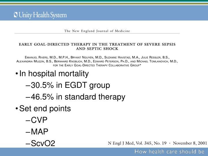 In hospital mortality