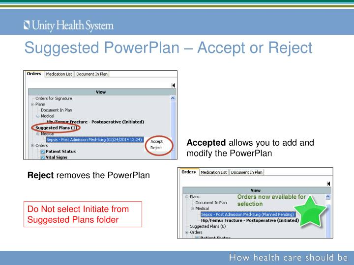 Suggested PowerPlan – Accept or Reject