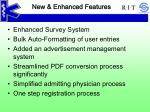 new enhanced features