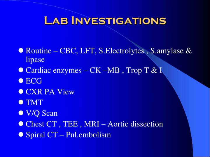 Lab Investigations