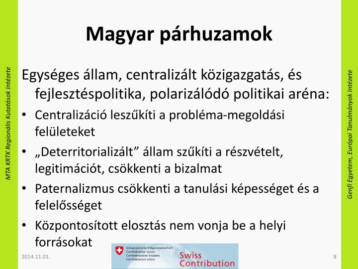 Magyar párhuzamok
