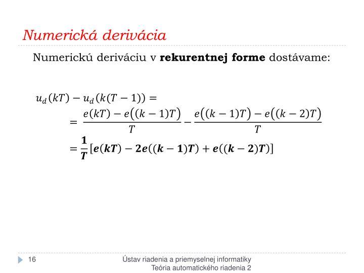 Numerická derivácia
