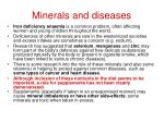 minerals and diseases
