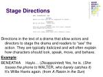 stage directions