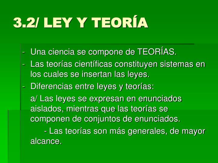 3.2/ LEY Y TEORÍA